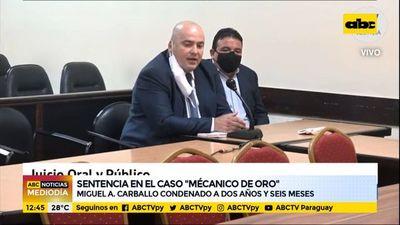 """Condenan a dos años y medio de prisión al """"Mecánico de Oro"""""""