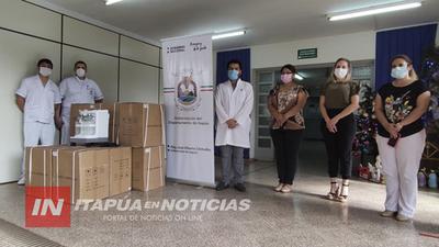 ENTREGAN EQUIPAMIENTO PARA LA UTI DEL HOSPITAL RESPIRATORIO DEL IPS ENCARNACIÓN