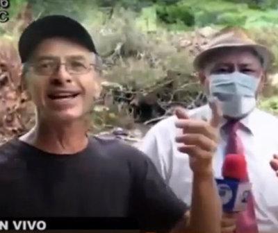 Hombre agrede a periodista de Telefuturo por utilizar tapabocas