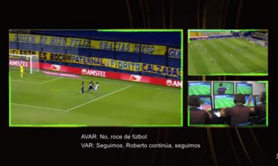 La apreciación del VAR en la polémica jugada del Boca-Santos
