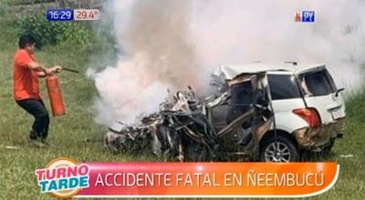 Militar muere en choque entre automóvil y camión