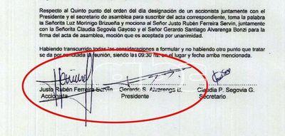 Firma rechazada para importar vacunas contra Covid-19 intenta negar al Clan Ferreira, pese a documentos