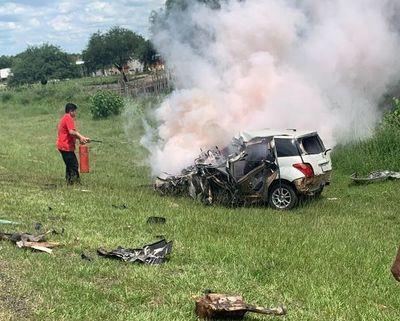 Conductor fallece tras choque en Ñeembucú