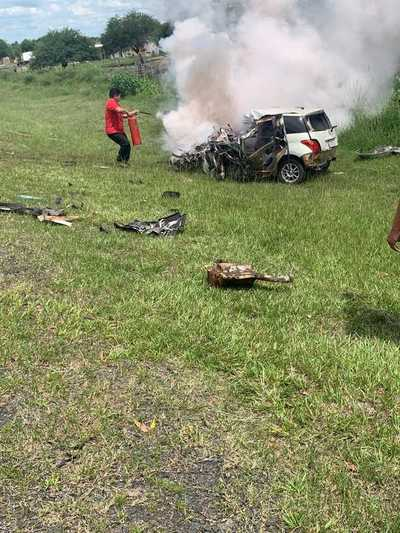 Un fallecido tras colisión vehicular en Ñeembucú