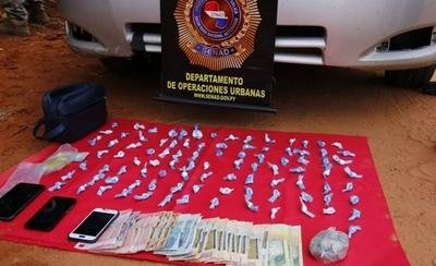 HOY / Capturan a distribuidor de cocaína en Capiatá: tenía casi 100 'moñitos' listos para la venta