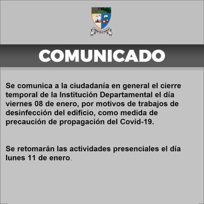 Gobernación permanecerá cerrada este viernes ante casos de Covid-19 – Prensa 5