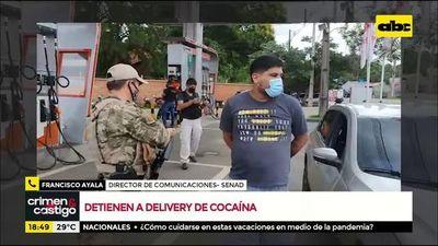 Detienen a delivery de cocaína