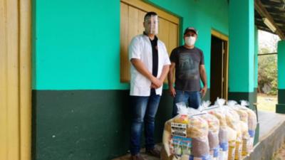 Eusebio Ayala entregó 3000 kits a pobladores