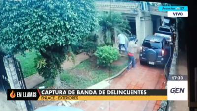 HOY / Captura de una banda de delincuentes luego de allanamientos realizados en San Lorenzo
