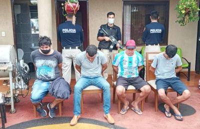 Descabezan banda de asaltantes tras una serie de allanamientos en Luque