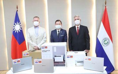 Taiwán dona equipos informáticos al JEM