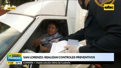 Policía controla el uso de tapabocas en San Lorenzo