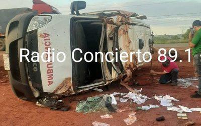 Niña fallece en vuelco de ambulancia de la gobernación de Alto Paraná