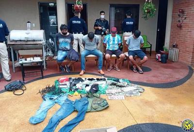 La Policía desbarata una gavilla de asaltantes que operaba en Central •