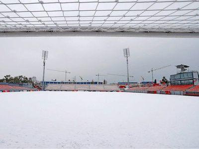 La nieve obliga al Atlético a entrenarse en el gimnasio