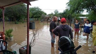 Intensas lluvias en el Chaco Central deja comunidades inundadas