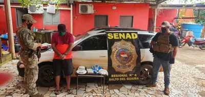 Captura de proveedor de cocaína en Salto del Guairá