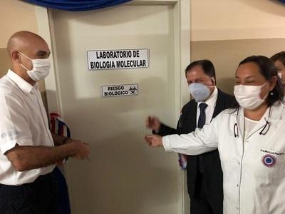 Inauguran laboratorio para procesar muestras Covid-19 en el hospital San Pablo