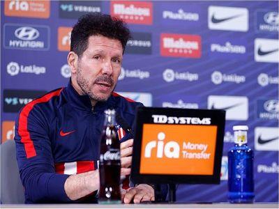 """Simeone: """"No hay que buscar tanto, estoy muy feliz en el Atleti"""""""