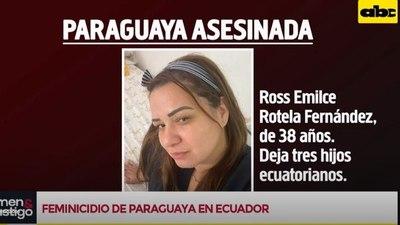 Siguen indagando motivo del asesinato de una paraguaya en Ecuador