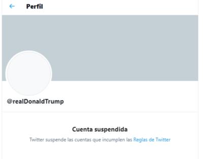 HOY / Twitter suspende permanentemente la cuenta de Trump