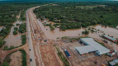 Restringirán tránsito de camiones pesados en parte de la Transchaco a partir de mañana, debido a inundaciones