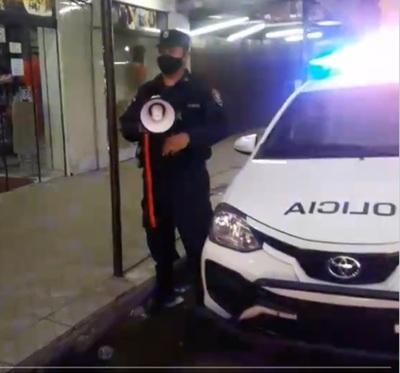 Policía realiza campaña de concienciación sobre cumplimiento de medidas sanitarias