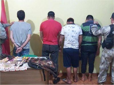 Frustran intento de robo y detienen a cuatro personas en Minga Guazú