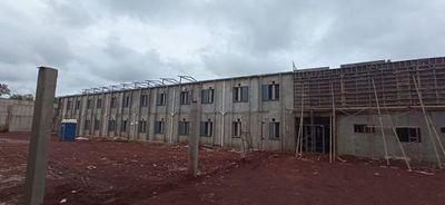 Obras en penitenciaría de Minga Guazú están con avance de un 63%
