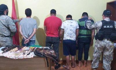 Caen cuatro sospechosos de intento de robo en Minga Guazú