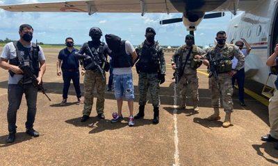 Jefe narco Bonitão ya fue entregado a las autoridades brasileñas