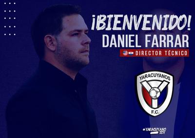 Daniel Farrar dirigirá en el fútbol de Venezuela