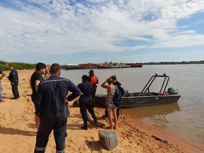 Continúan los trabajos de búsqueda del joven desaparecido en aguas del Río Paraguay