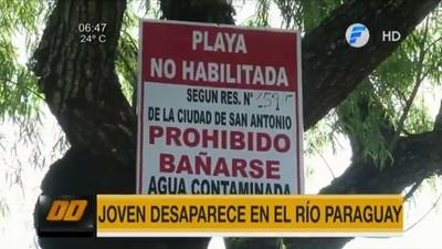 Adolescente desaparece en el río Paraguay