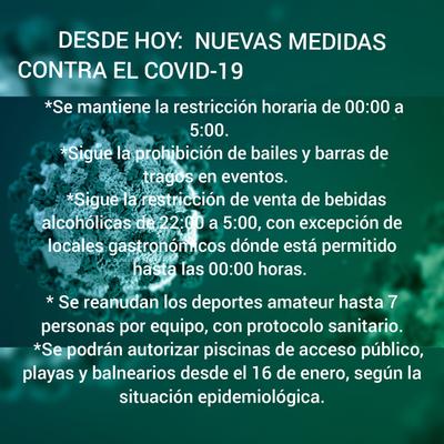 DESDE HOY: NUEVAS MEDIDAS CONTRA EL COVID-19