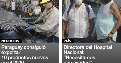 La Nación / Destacados de la mañana del 11 de enero