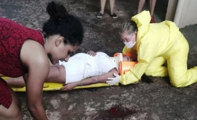 Embarazada cae del cuarto piso tras intentar pasar de un balcón a otro