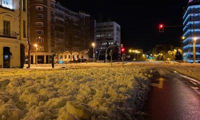 Madrid colapsa por la histórica tormenta de nieve