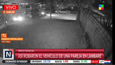 """Víctima de robo de vehículo en Lambaré: """"Fue algo repentino y tan inesperado para nosotros"""""""