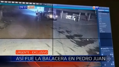 Revelan imágenes del ataque en Pedro Juan