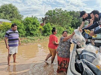 SEN asistió a unas 300 familias afectadas de Boquerón tras inundaciones