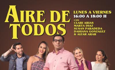 """HOY / """"Aire de Todos"""" desembarca a GEN con Clari Arias y todo el equipo"""