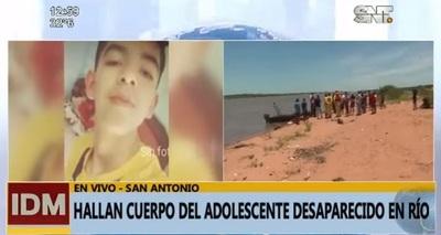 Hallan cuerpo de adolescente desaparecido en el río Paraguay