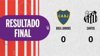 Cero a cero terminó el partido entre Boca Juniors y Santos