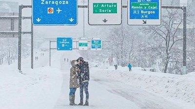 Crónica / Buscan a la pareja más romántica de la nieve