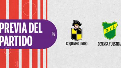 Por la Semifinal 2 se enfrentarán Coquimbo Unido y Defensa y Justicia