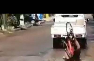 HOY / Bache mortal: ciclista casi muere desnucado en Luque