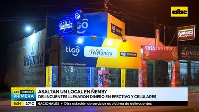 Asaltan local de electrónica en Ñemby