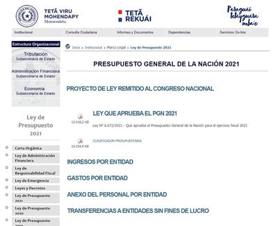 Hacienda pone al alcance de toda la ciudadanía el contenido del PGN 2021