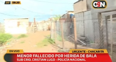 Adolescente muere baleado en la Chacarita
